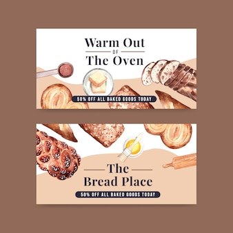 Bakery banner templates