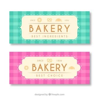 Пекарские знамена с конфетами и хлебом