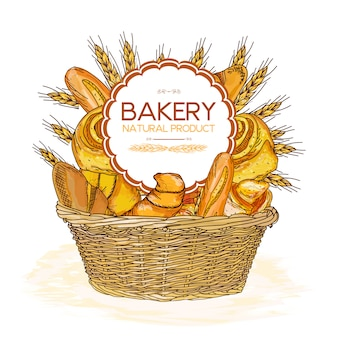 Bakery basket food
