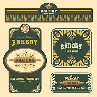 Bakery branding template and packaging