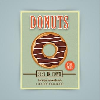 Хлебопекарная брошюра с шоколадом пончика