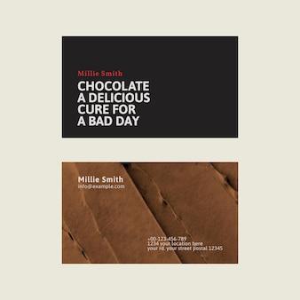 설탕을 입힌 텍스처가 있는 검정색과 갈색의 베이커리 명함 템플릿 벡터