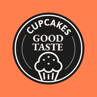 Bakery business logo vector in cute doodle style