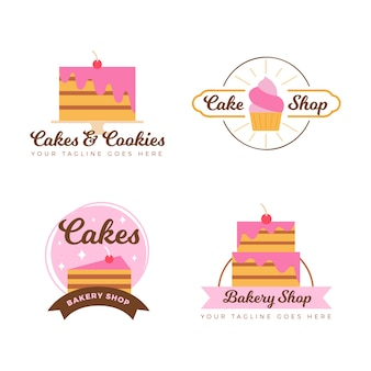 Bakery cake logo collection