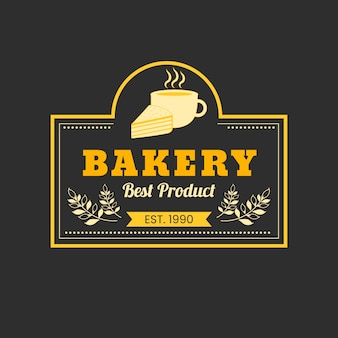 Пекарня торт логотип концепция
