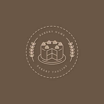 Bakery cake logo design with cake