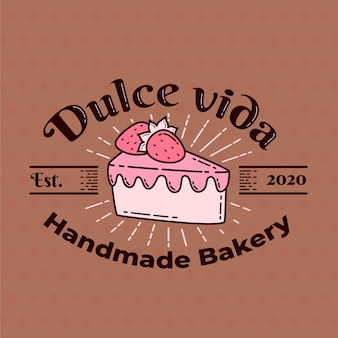 Пекарня торт с логотипом