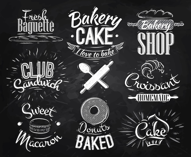 Bakery characters chalk