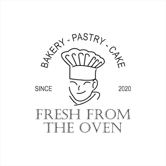 베이커리 요리사 로고 디자인 템플릿 아이디어