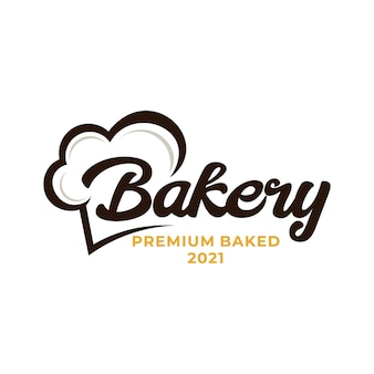 Логотип шеф-повара пекарни. логотип сельского хозяйства пшеницы и риса