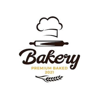 Bakery chef logo. wheat rice agriculture logo
