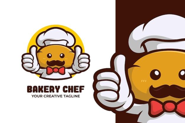 Логотип талисмана шеф-повара пекарни