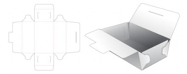 Bakery container packaging die cut template