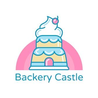 パン屋さんのコーポレートアイデンティティのロゴのテンプレート