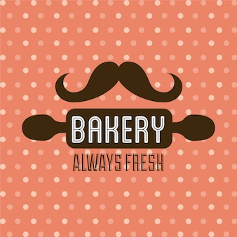 Bakery design over dotted  background vector illustration