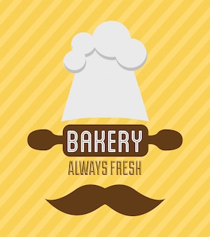 Bakery design over lineal  background vector illustration