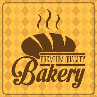 Bakery design over pattern  background vector illustration