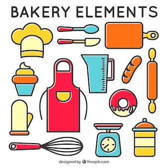 Bakery equipment in linear style