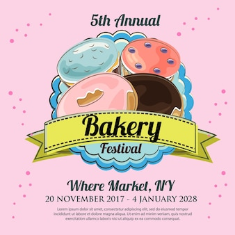 Bakery festival in hand drawn style