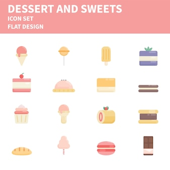 Bakery flat icon set