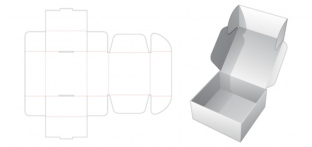 Bakery folding box die cut template