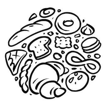 Графика пекарни объединена в круглую форму.