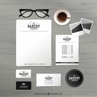 Bakery identity mock-up