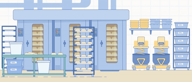 Bakery industry equipment and machines