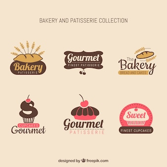 Bakery label collection with vintage style
