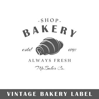 Bakery label isolated on white background