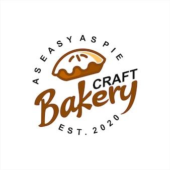 Bakery logo design pie label vector