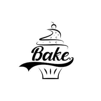 ベーカリーのロゴデザインベクトル