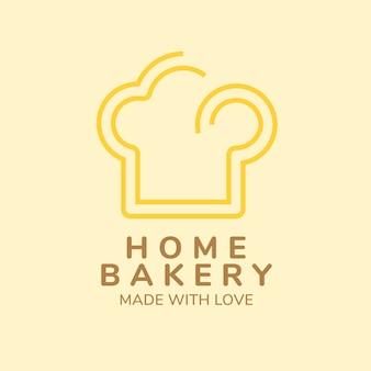Logo della panetteria, modello di business alimentare per il vettore di progettazione del marchio