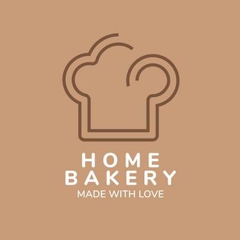 Logo della panetteria, modello di attività alimentare per il vettore di progettazione del marchio
