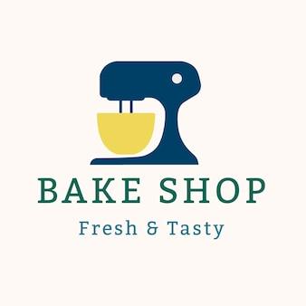 ベーカリーのロゴ、ブランディングデザインベクトルの食品ビジネステンプレート