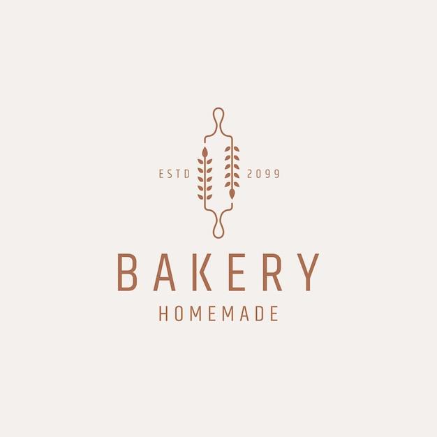Пекарня логотип значок дизайн шаблона плоский вектор