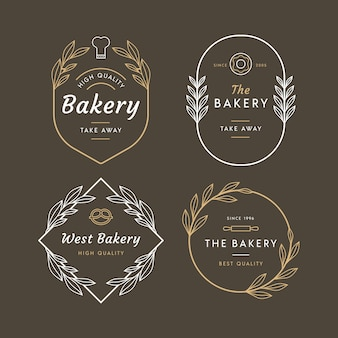 Bakery logo retro design