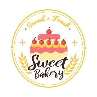 Шаблон логотипа пекарни значок пекарни значки пекарни этикетки значки