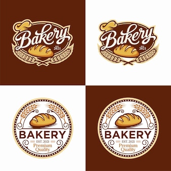 Bakery logo template set design