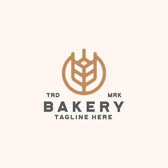 パン屋のロゴのテンプレート