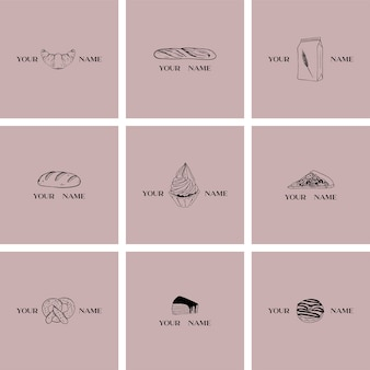 Bakery logo templates