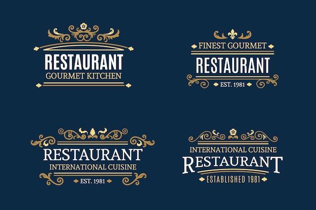 レトロなスタイルのパン屋さんのロゴ