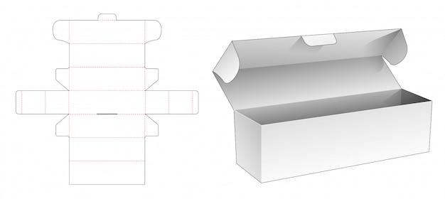 Bakery long box die cut template design