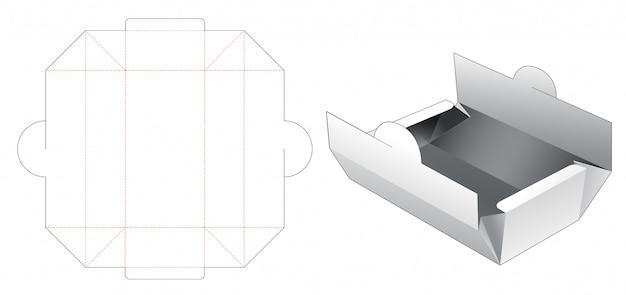 Bakery packaging box die cut template