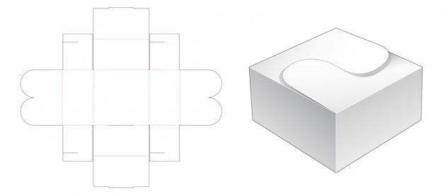 Bakery packaging die cut template