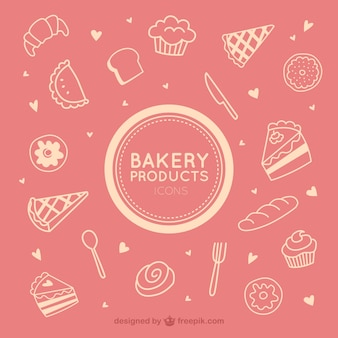Bakery product icons