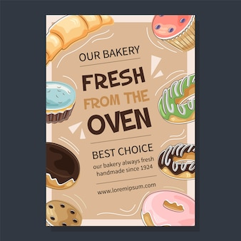 Bakery promotional poster