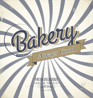 Bakery retro background
