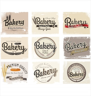Bakery retro badges and labels