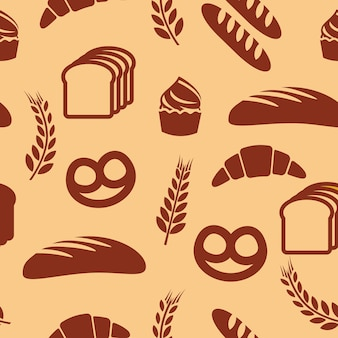 Bakery seamless vector pattern